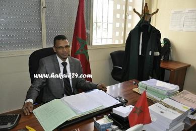 صورة حوار مع الأستاذ علي ايت كاغو قاضي الأحداث بالمحكمة الابتدائية باكادير