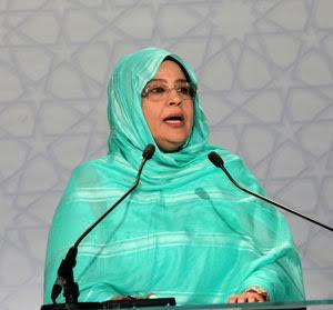 """صورة رئيسة حزب """"الأمل"""" الموريتاني ل""""حقائق 24″ لا بديل عن رأب الصدع المغاربي"""