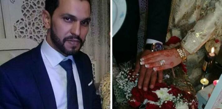 صورة تهنئة بمناسبة زواج الأستاذ والزميل الصحفي عبد الله الفرياضي