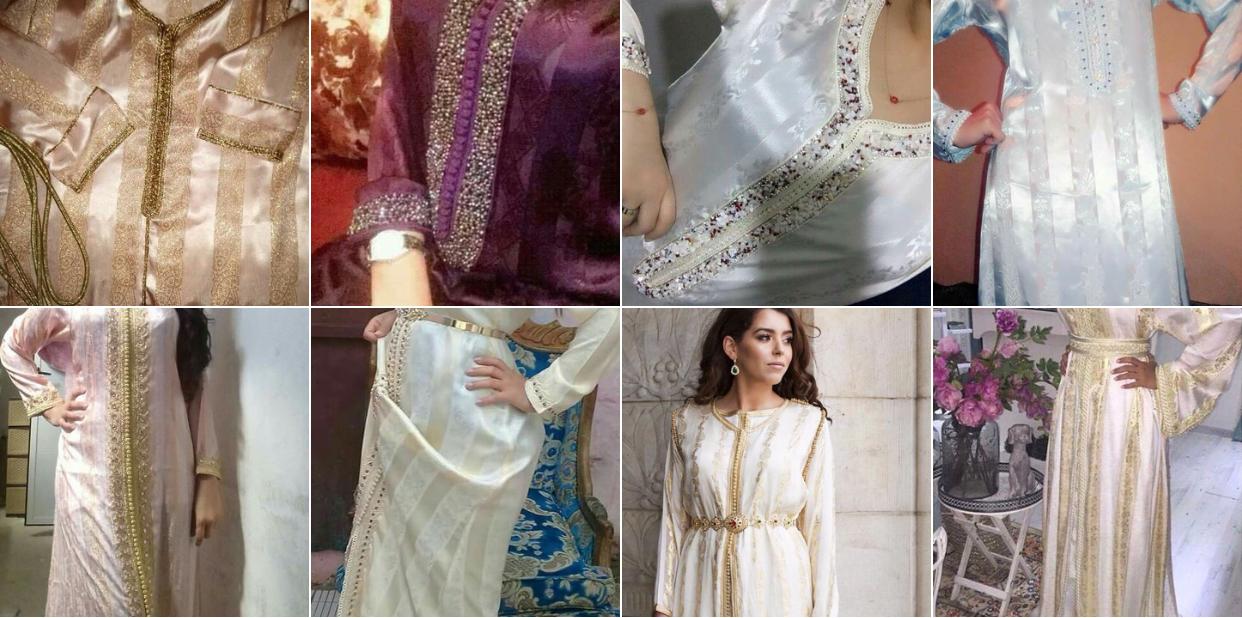 صورة بالصور : لكل الذواقات آخر صيحات القفطان المغربي من قماش الجوهرة