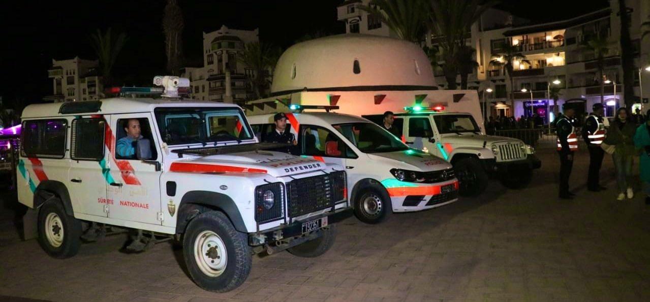 صورة استنفار أمني بأكادير يستبق وصول الملك محمد السادس