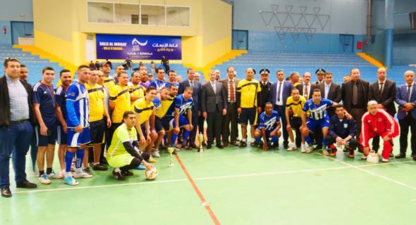 صورة فريق منطقة أمن بيوكرى يحرز لقب دوري ولاية أمن أكادير لكرة القدم المصغرة