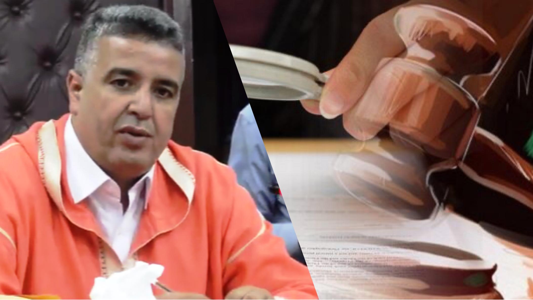"""صورة بلفقيه أمام قاضي التحقيق بأكادير بتهمة """"التزوير"""""""