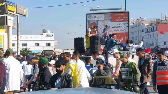 """صورة أساتذة """"الكونترا"""" يعودون للاحتجاج بمدينة إنزكان"""