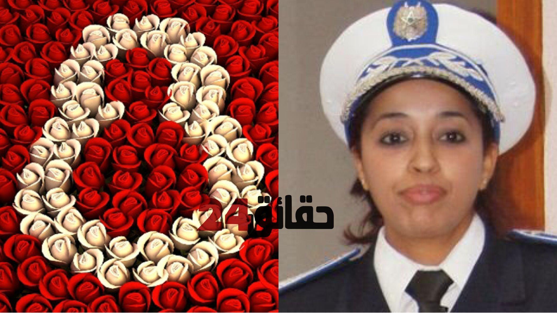 صورة فاطمة بومور .. تأنيث شرطة المرور بتكوين أكاديمي