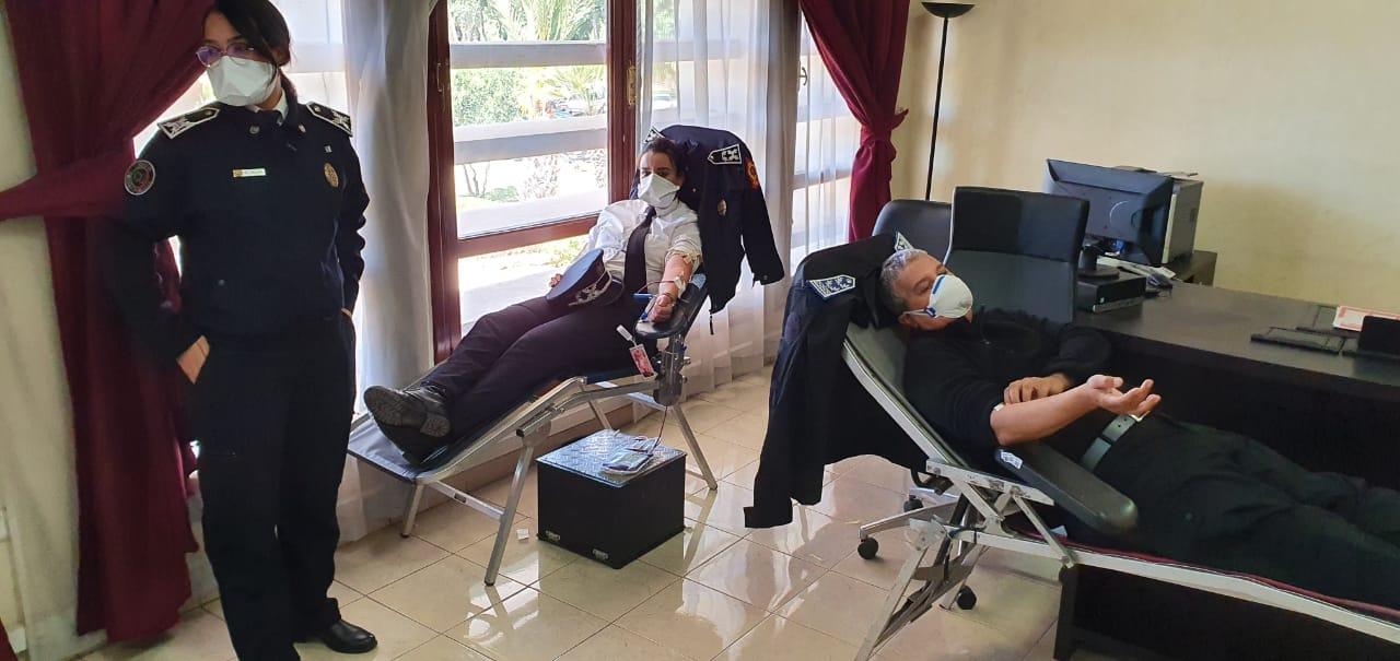 صورة أمن أكادير يتبرع بالدم
