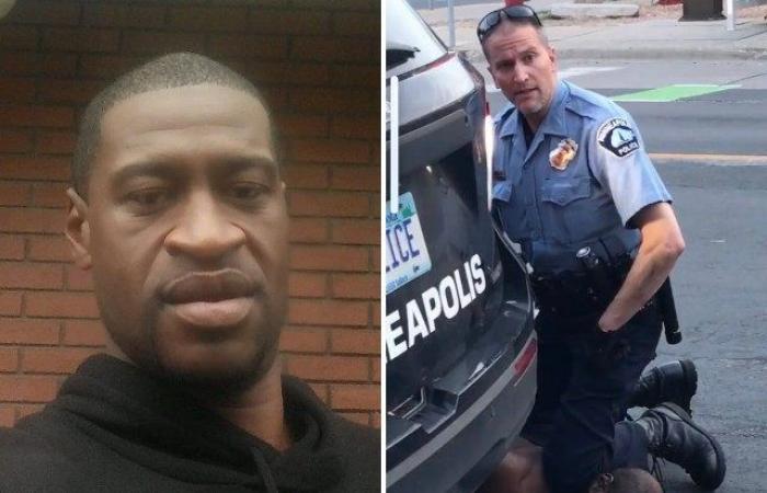 صورة اعتقال الشرطي المتهم بقتل رجل أسود