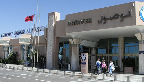 صورة هذه لائحة رحلات عودة مغاربة الخارج بمطار أگادير