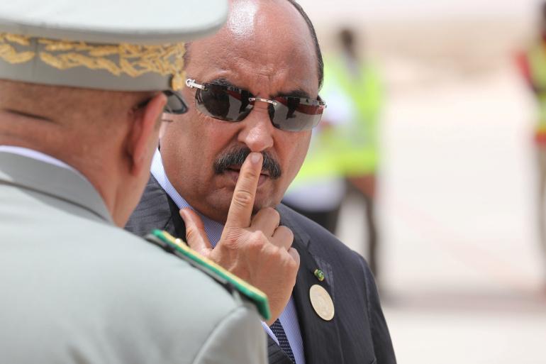 صورة اعتقال الرئيس الموريتاني السابق