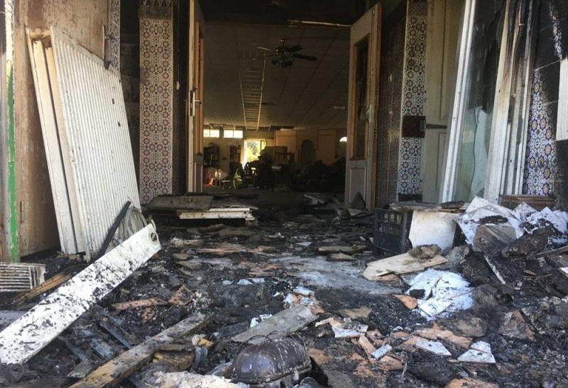 صورة إحراق مسجد بمدينة ليون