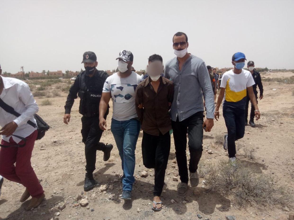 صورة توقيف مرتكبي جريمة القتل التي هزت كلميم