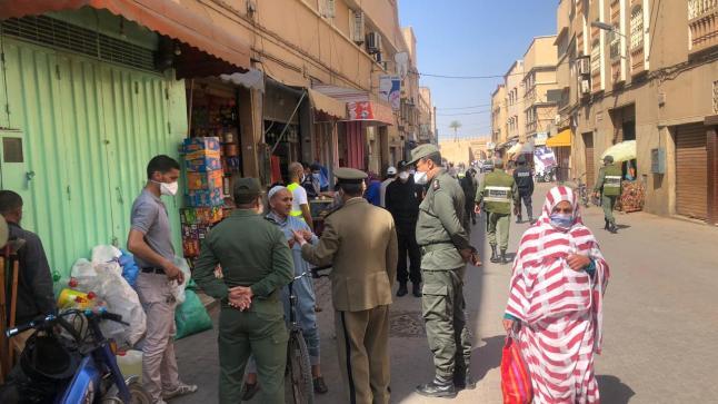 صورة عدم إرتداء الكمامة يقود 742 شخصاً للإعتقال بتارودانت