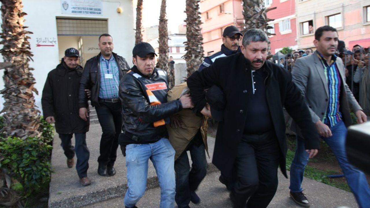 صورة اعتقال قاتل شقيقه بأكادير