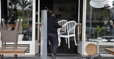 صورة إغلاق مقاهي خرقت الطوارئ بأيت ملول