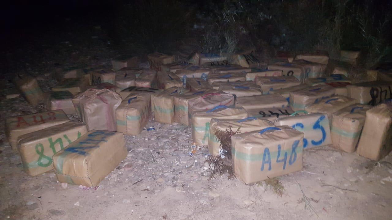 صورة عناصر القوات المساعدة بالدريوش تحبط عملية تهريب كمية كبيرة من المخدرات