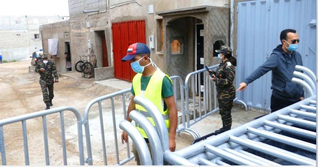 صورة إغلاق مدينة خنيفرة ومريرت بسبب تفشي كورونا