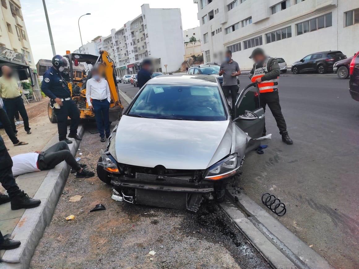 """صورة محاولة قتل  شرطي مرور بـ"""" سيف ساموراي"""" بأكادير"""