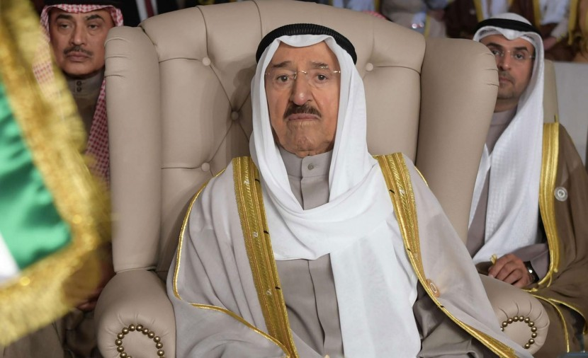 صورة وفاة أمير دولة الكويت الشيخ صباح الأحمد الجابر