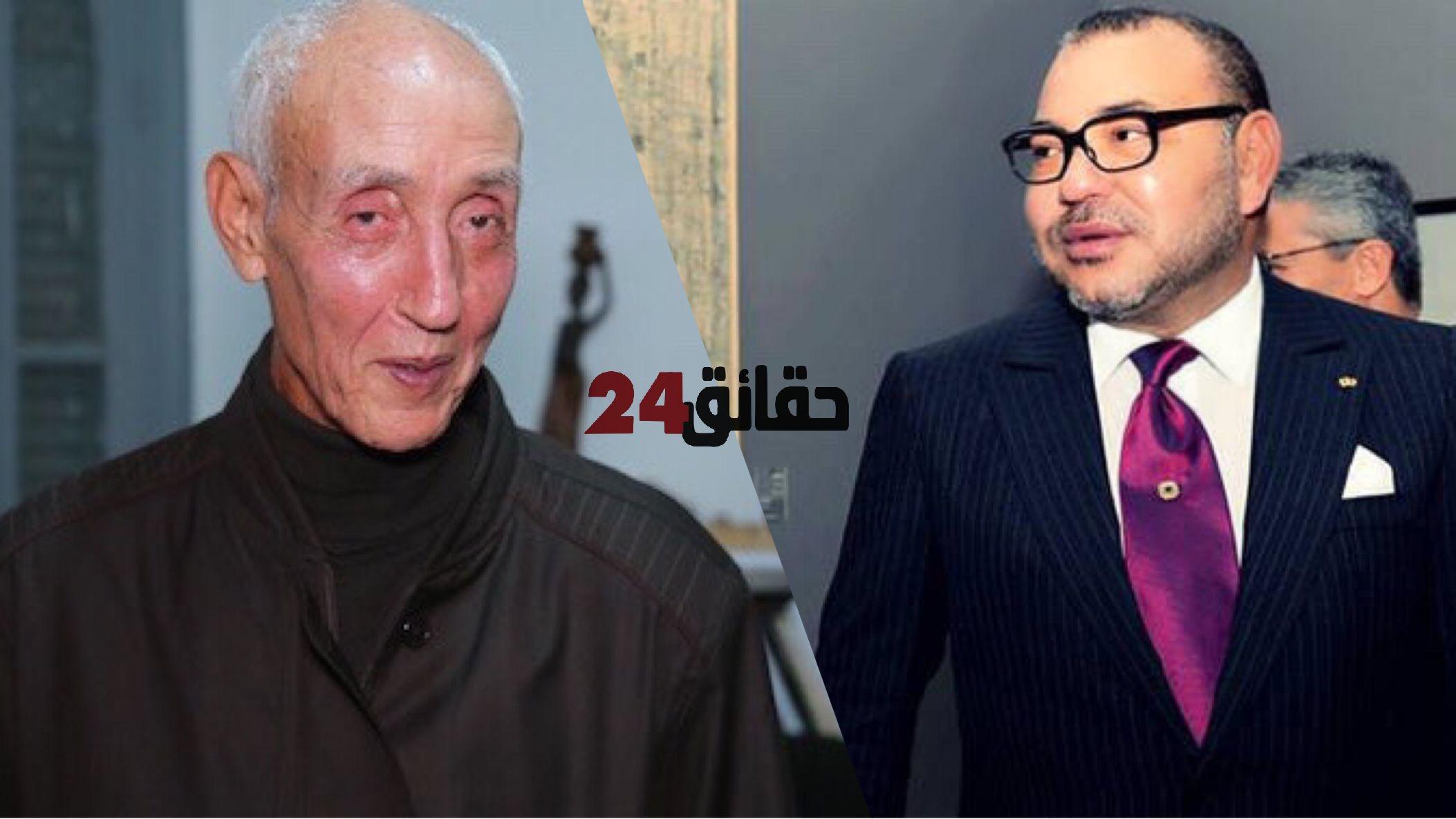 صورة الملك يبعث برقية تعزية ومواساة إلى أفراد أسرة المرحوم أحمد الدغرني