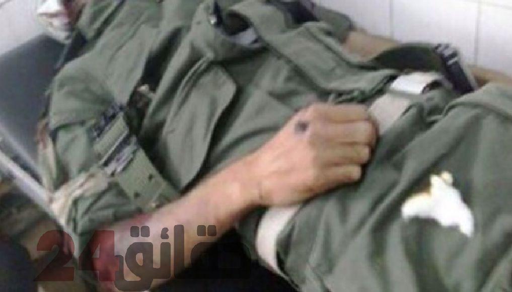 صورة محاولة انتحار عنصر من القوات المساعدة رميا بالرصاص بالسمارة