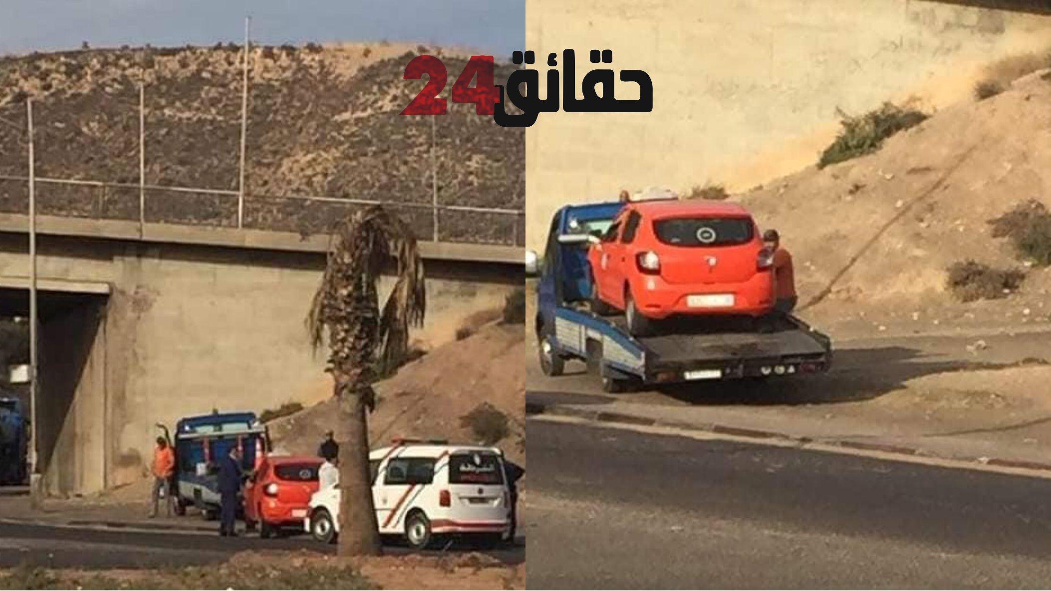 صورة حينما تُسلم رُخص الثقة للمنحرفين .. حادثة سير تفضح سائق طاكسي صغيرة بأكادير
