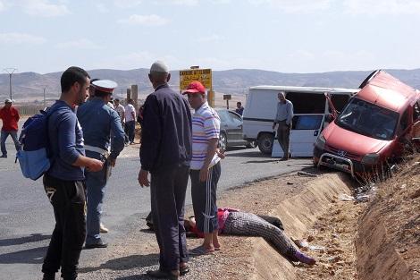 صورة حادثة سير تودي بحياة 5 أشخاص بين مراكش و أكادير