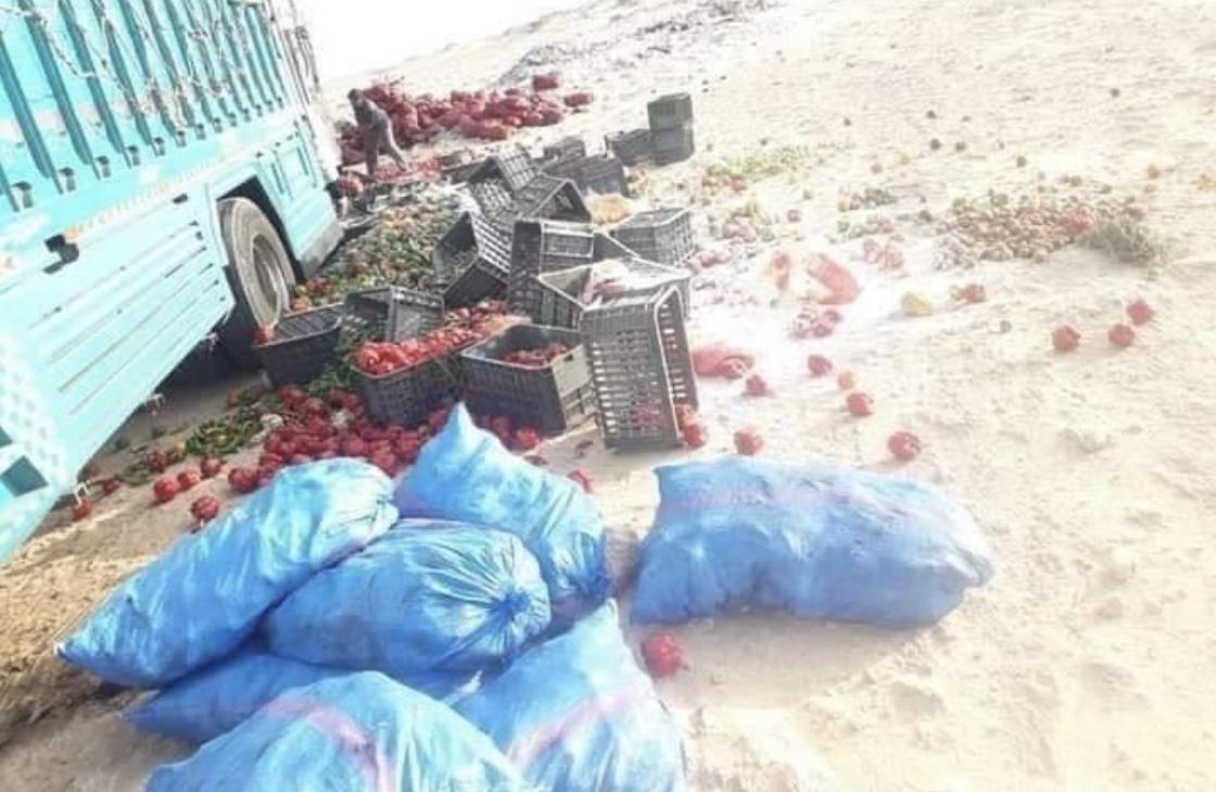 صورة بعد غلق معبر الكركرات  .. الوضع الاقتصادي بموريتانيا ينذر بكارثة انسانية