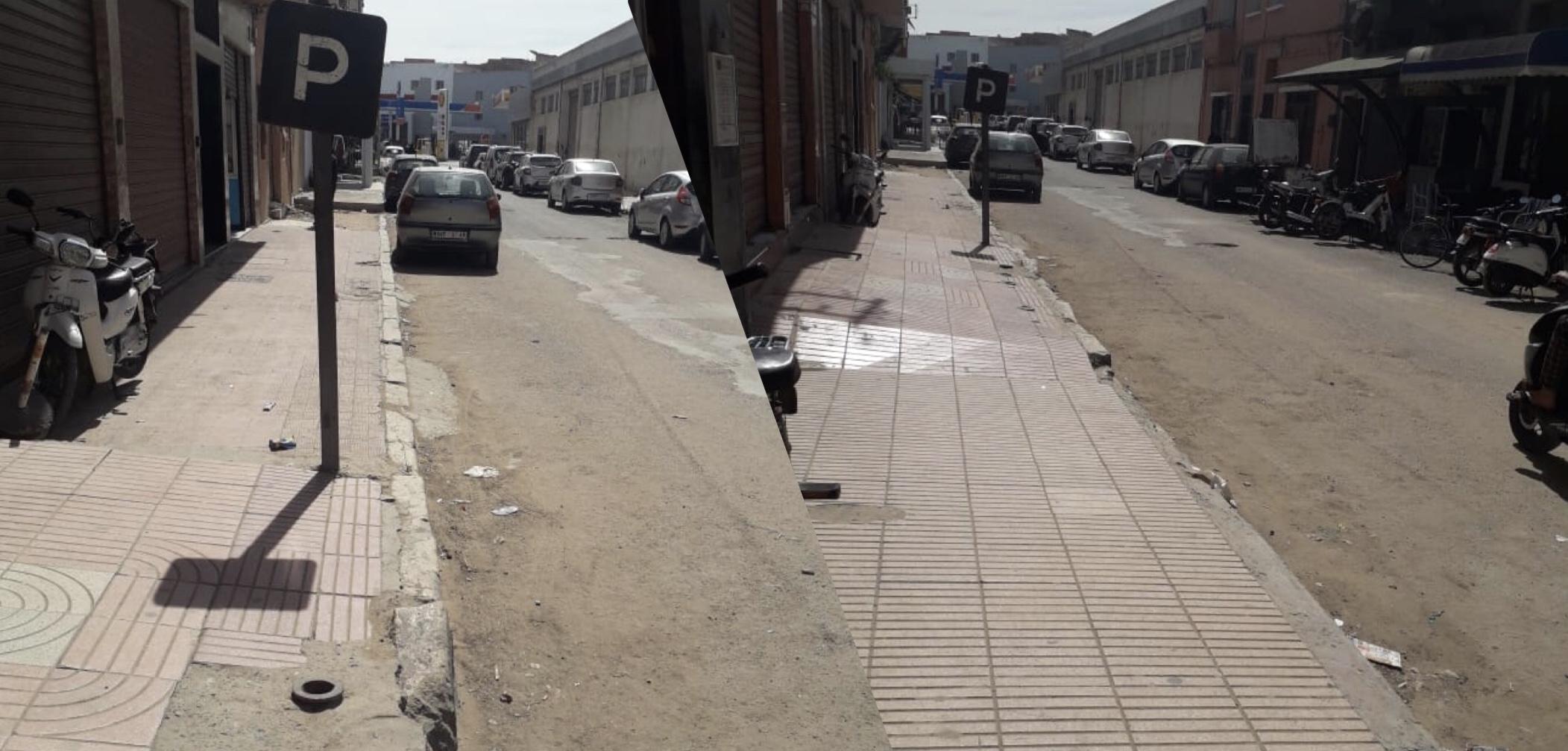 """صورة متضررون يطالبون رئيس المجلس الحضري بتهيئة """"لشبونة"""" أسفي"""
