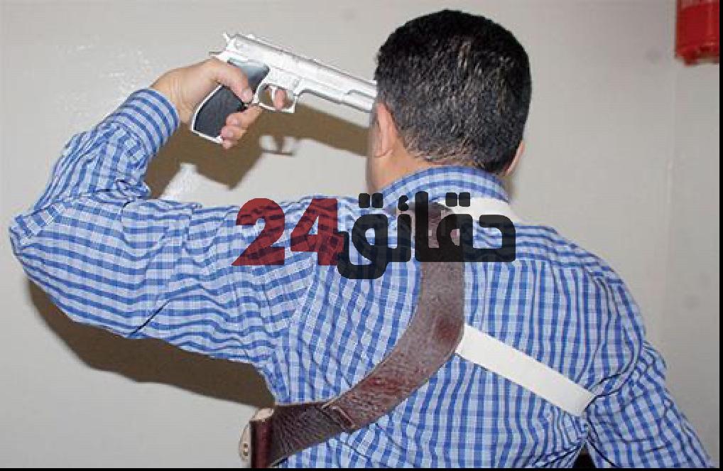 صورة انتحار ضابط شرطة رميا بالرصاص بالعيون