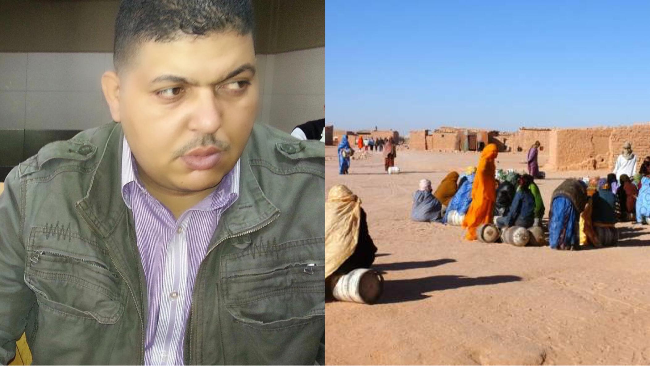 """صورة الناشط الصحراوي  تيلوب يدعو الصحراويين بـ""""تيندوف"""" الإلتحاق بالوطن"""
