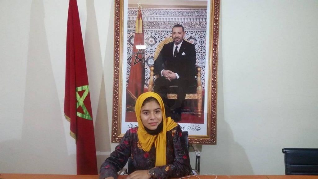 """صورة التلميذة """"سارة الضعيف"""" من تارودانت تمثل المغرب في تحدي القراءة العربي"""