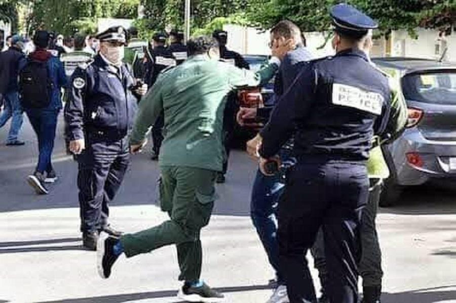 صورة رجل سلطة يصفع ممرض يثير سخط المغاربة
