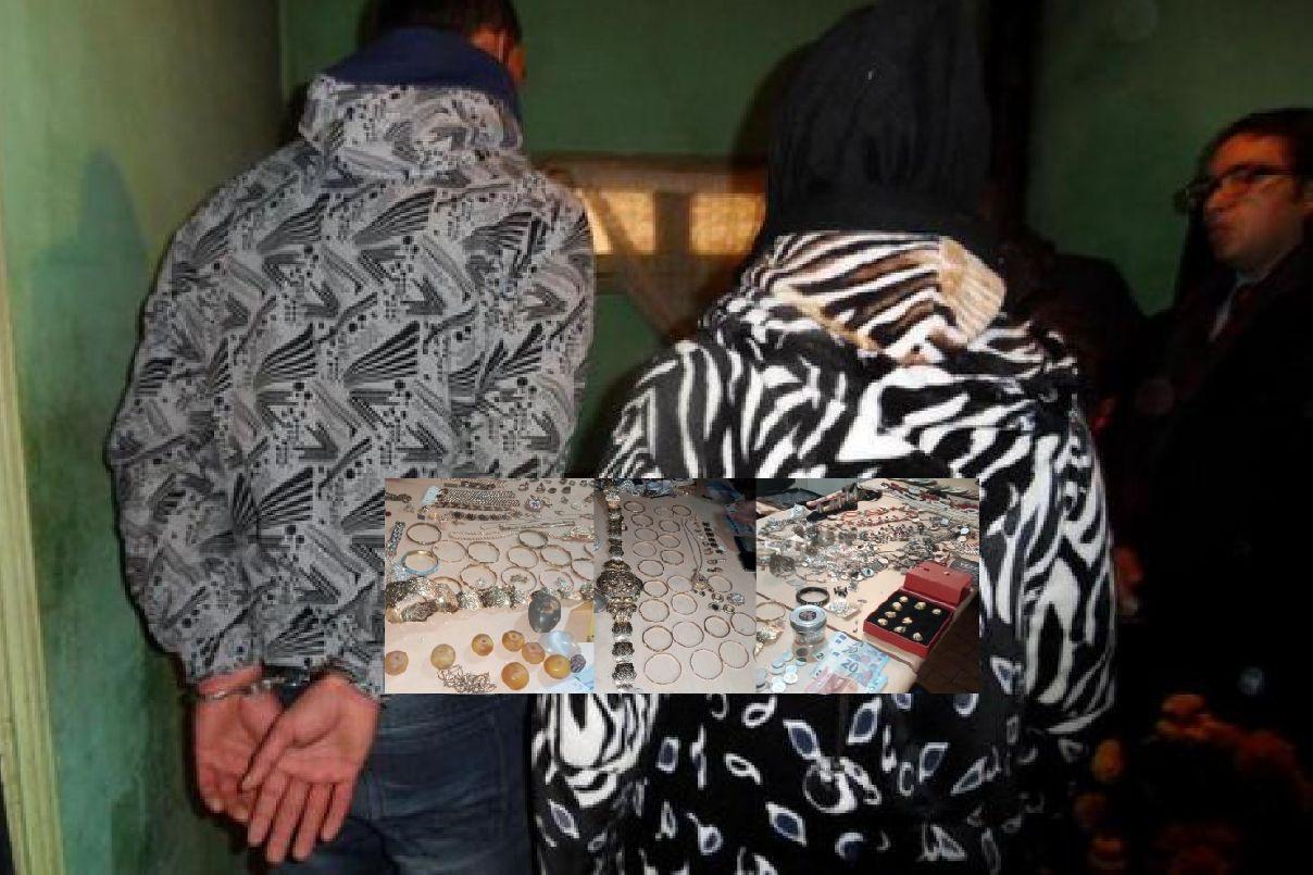 صورة توقيف زوجين متخصصين في سرقة المنازل بإنزكان