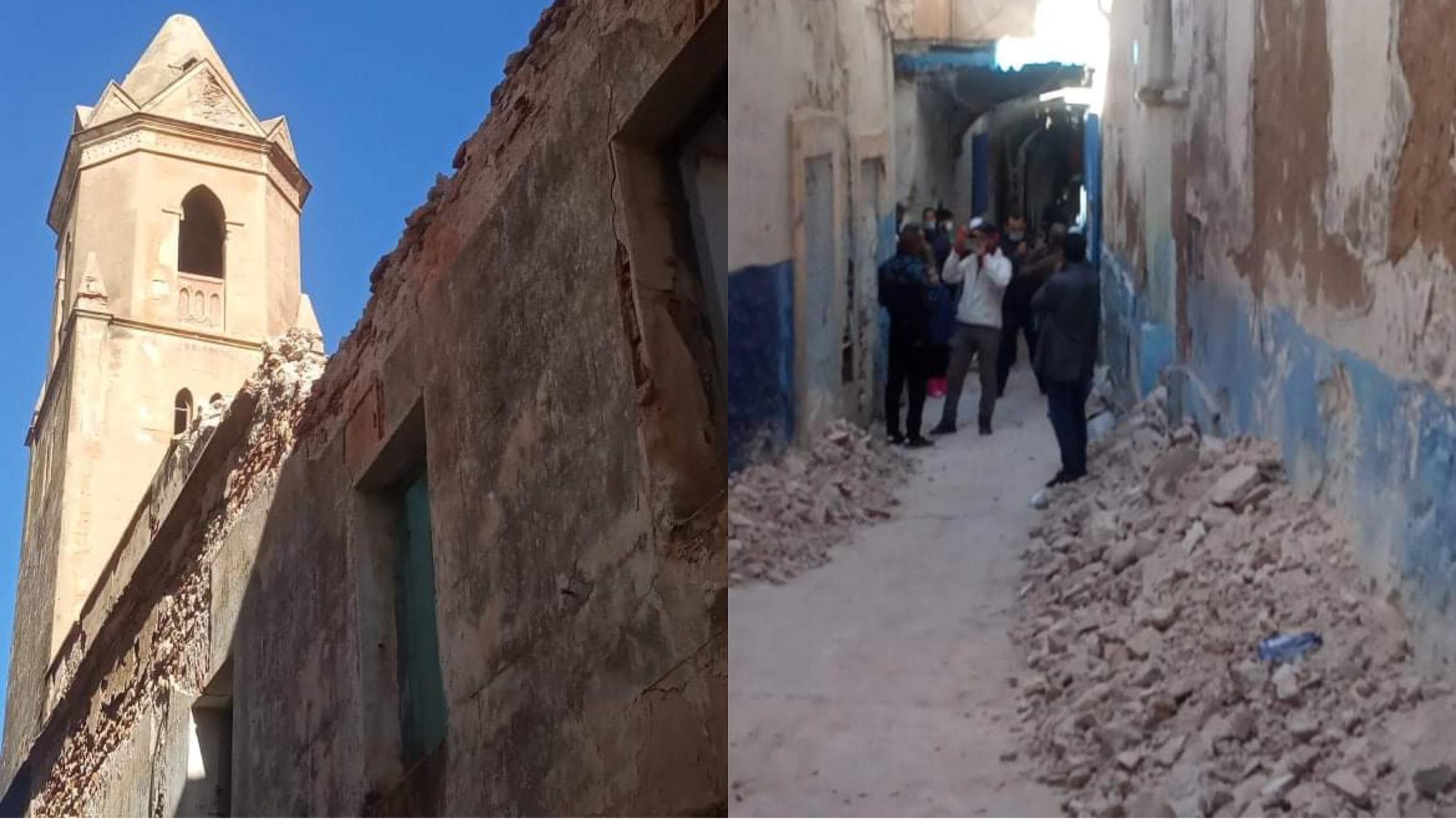 صورة أسفي .. انهيار أجزاء من الكنيسة الاسبانية يثير حفيظة ساكنة المدينة العتيقة