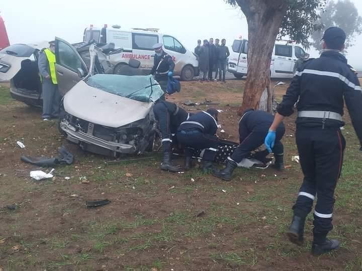 صورة أسفي | مصرع أربع أشخاص في حادث سير خطير – صور –