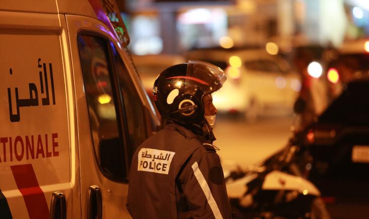 صورة إطلاق النار على شخص رشق الشرطة بقنينات غاز