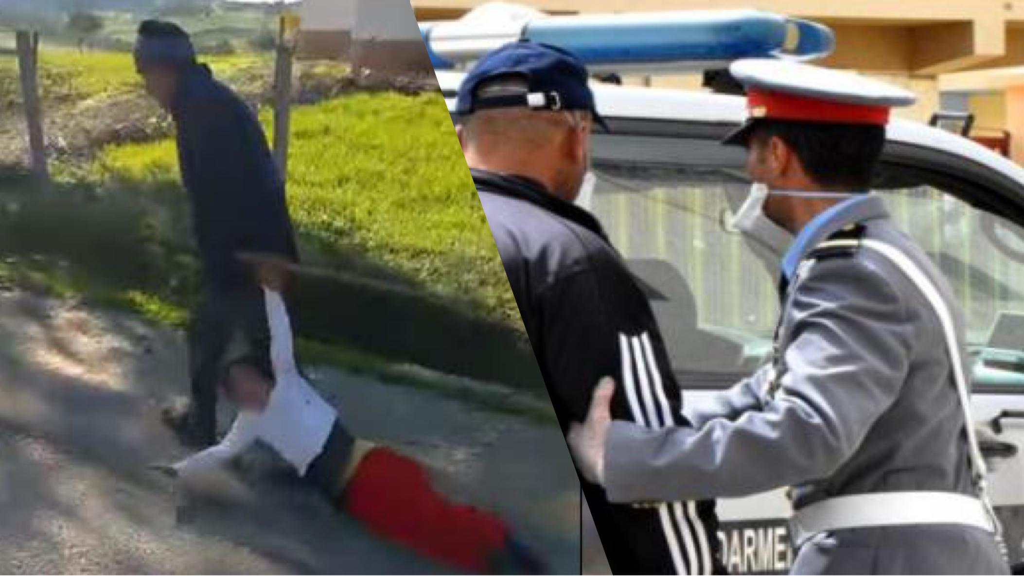 """صورة اعتقال الجدّ الذي """"سحل"""" حفيدته بوحشية"""