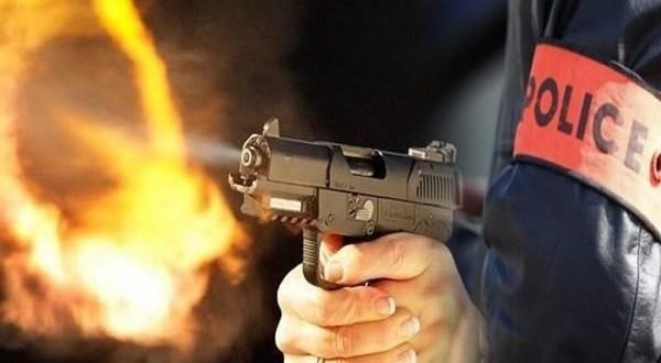 صورة إطلاق الرصاص لتوقيف سائق حاول الفرار بعد حادثة سير بالعيون