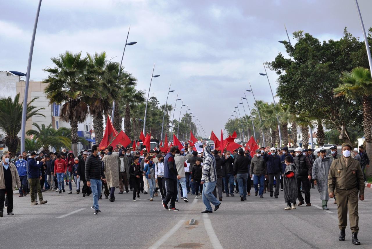صورة الوليدية   احتفالات الساكنة بنجاح الديبلوماسية المغربية في قضية الصحراء