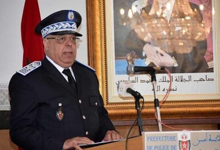 صورة والي أمن تطوان يقدم حصيلة العمل الأمني الولائي