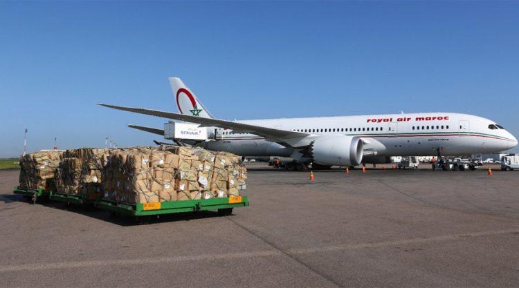 صورة الشحنة الاولى من لقاح ''استرازينيكا'' تصل مطار الدار البيضاء