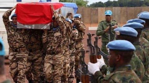 صورة مقتل جندي مغربي بأفريقيا الوسطى
