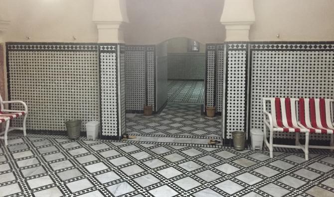 صورة إعادة فتح الحمامات بأكادير
