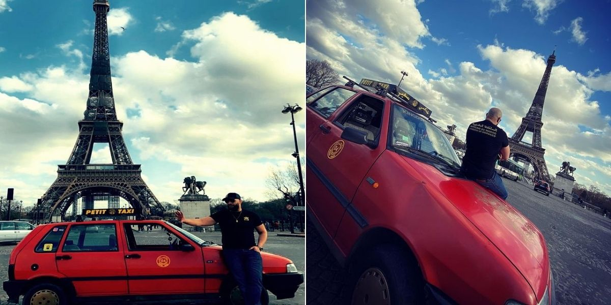 صورة سيارة أجرة صغيرة مغربية تجوب شوارع باريس تشعل مواقع التواصل الإجتماعي