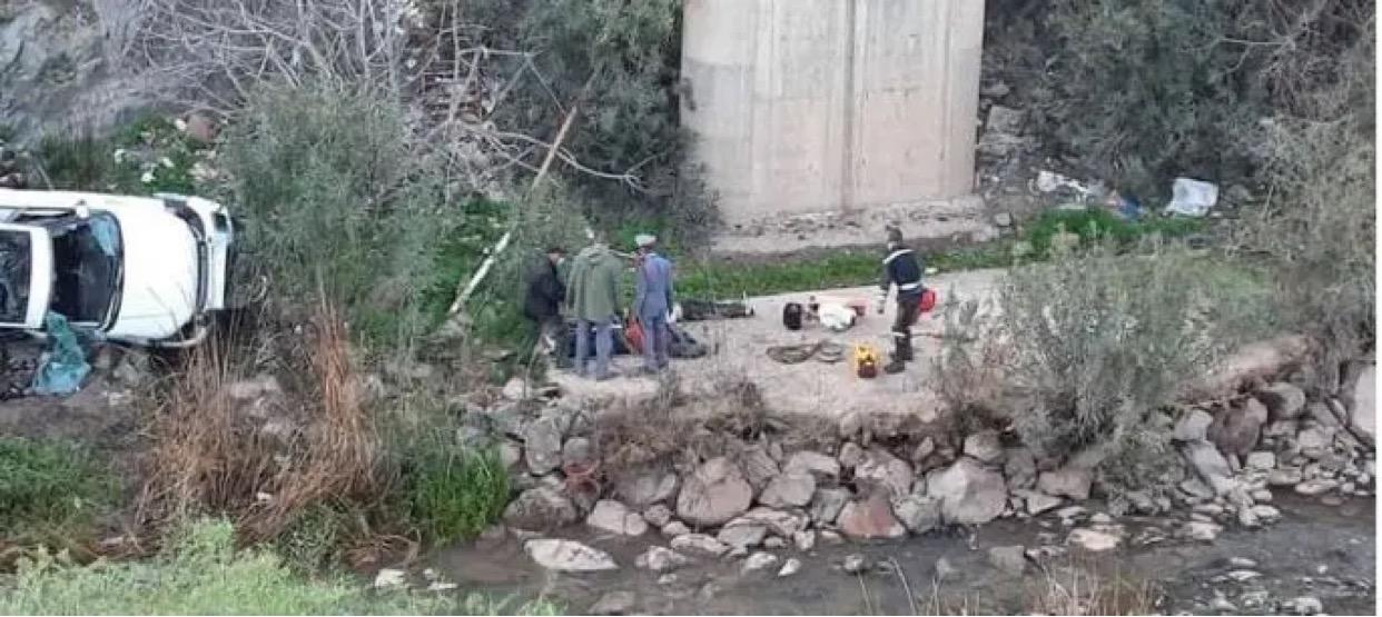 صورة مصرع ثلاثة أشخاص في حادثة سير بالحوز