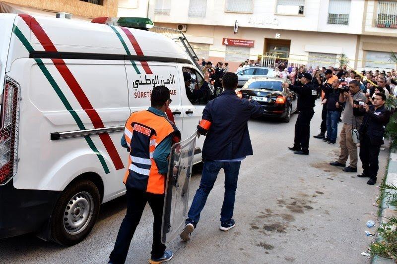 صورة اعتقال أربعة أشخاص متورطين في مجزرة سلا