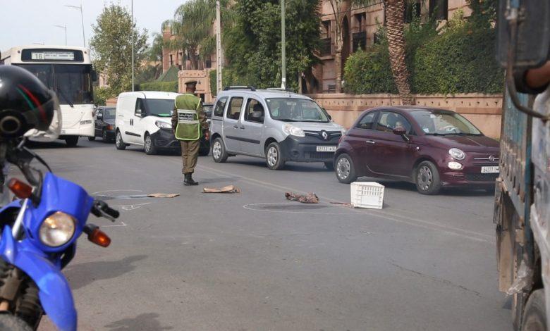 صورة مصرع سائق دراجة نارية في حادثة سير خطيرة بأولاد تايمة