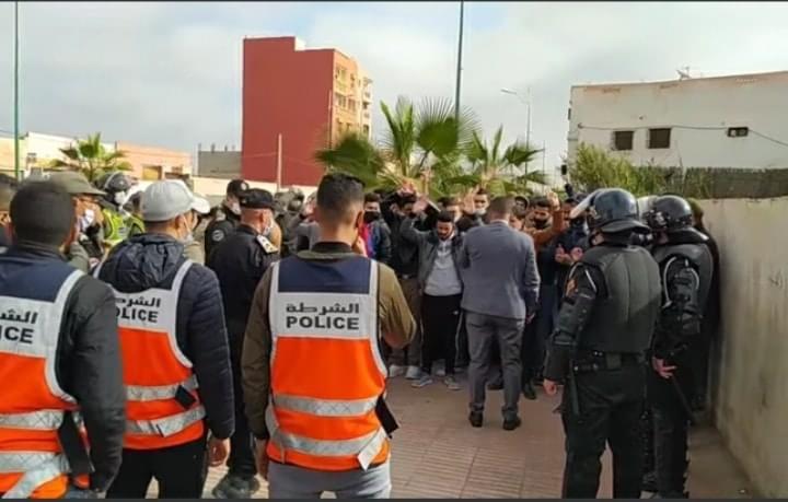 صورة مديرية الأمن تنفي استخدام القوة لاحتجاج الأساتذة بأيت ملول