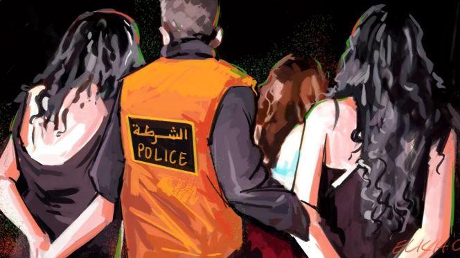 صورة اعتقال خليجيين وفتاتين إحداهما قاصر بطنجة