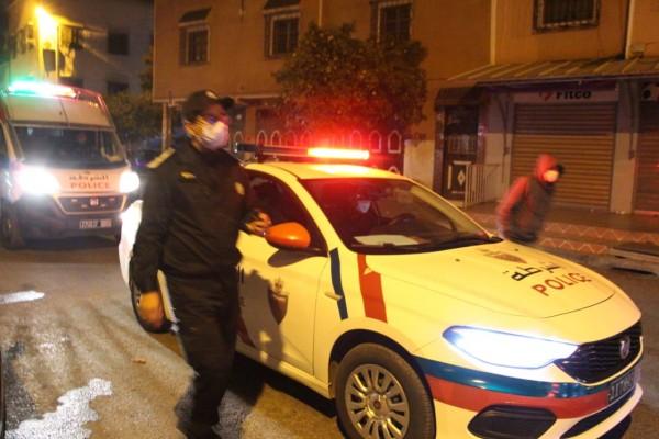 """صورة ولاية أمن أكادير تدخل على خط فيديو لـ""""سيارة أمن"""" تدهس شابا بعد مطاردته بسبب """"الكمامة"""""""
